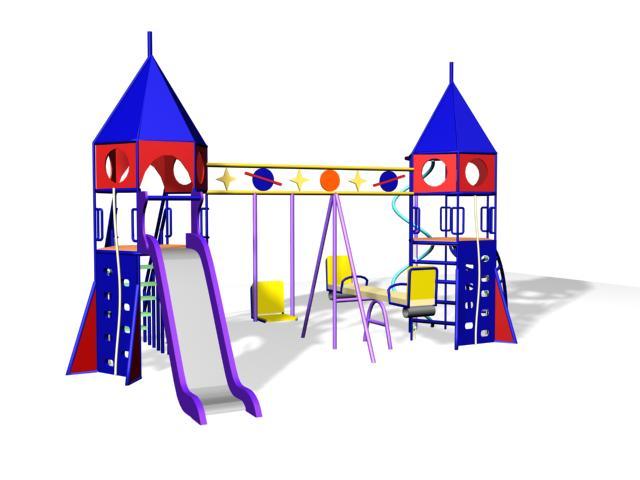 Детский игровой комплекс «Ракеты 1» 10.20 10.20 10.20 10.20