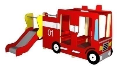 Горка «пожарная машина», Н=650мм 4.36 4.36 4.36 4.36
