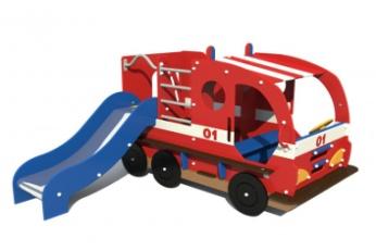 Горка «пожарная машина», Н=650мм 4.50 4.50 4.50 4.50