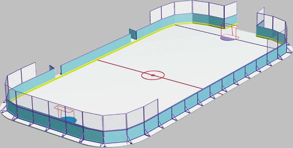 Хоккейная коробка 13.23 13.23 13.23 13.23