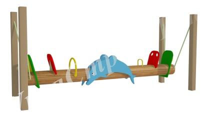 Качалка-балансир на цепях дельфин 6.11 6.11 6.11 6.11