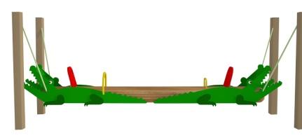 Качалка-балансир на цепях крокодил 6.13 6.13 6.13 6.13