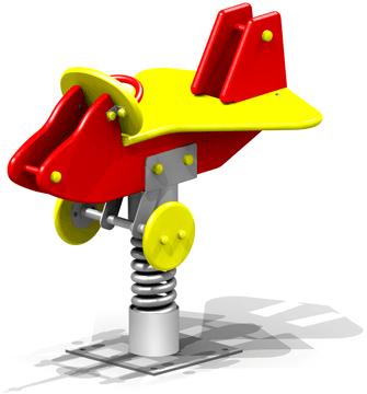 Качалка на пружине самолет 7.4 7.4 7.4 7.4