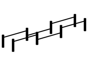 Низкие брусья (цельнометаллические) 16.43 16.43 16.43 16.43