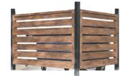 Ограждение из бруска для 3 контейнеров ТБО 21.6 21.6 21.6 21.6