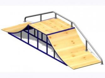 Рампа для скейтборда малая 14.24 14.24 14.24 14.24
