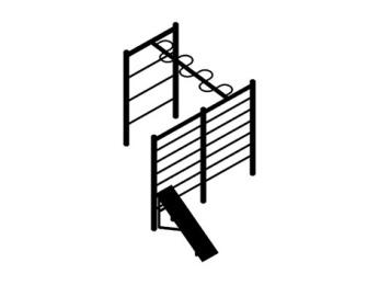 Шведские стенки, змейка и скамья для пресса (цельнометаллические) 16.41 16.41 16.41 16.41