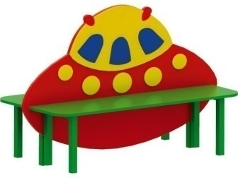 Скамейка детская «НЛО» 19.32 19.32 19.32 19.32