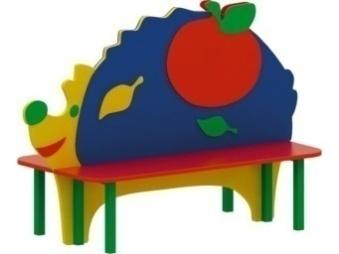 Скамейка детская «веселый ежик» 19.33 19.33 19.33 19.33