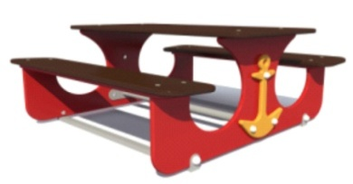 Столик игровой со скамьями 19.50 19.50 19.50 19.50
