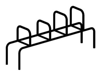 Упоры для упражнений воркаут (цельнометаллические) 16.10 16.10 16.10 16.10